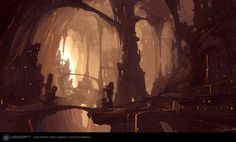 Underground city Donovan Valdes Concept Art and Illustration Fantasy City, Fantasy Places, High Fantasy, Medieval Fantasy, Fantasy World, Fantasy Dwarf, Concept Art World, Fantasy Concept Art, Environment Concept Art