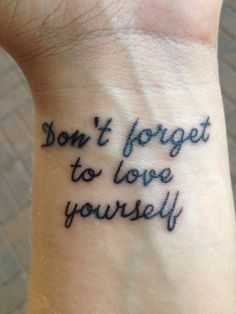 Image about love in tatoo-piercing by ♡.♡ on We Heart It Wörter Tattoos, Word Tattoos, Tatoos, Girly Tattoos, Piercing Tattoo, Piercings, Recovery Tattoo, Love Yourself Tattoo, Love Yourself First