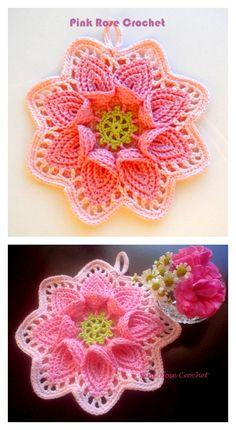 Calla Lily Flower Potholder Free Crochet Pattern – Your Crochet Crochet Diy, Unique Crochet, Crochet Crafts, Yarn Crafts, Crochet Projects, Crochet Geek, Geek Crafts, Crochet Birds, Crochet Animals