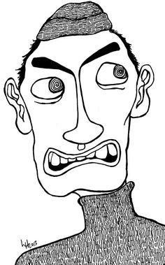 Easy Doodles Drawings, Creepy Drawings, Sketchbook Drawings, Pencil Art Drawings, Cartoon Drawings, Psychedelic Drawings, Wtf Face, Junk Art, Red Art