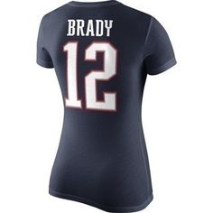 The Official Patriots ProShop Mobile | 2014 Nike Ladies Brady Name and Number Tee
