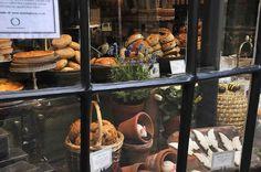 Classic bakery window