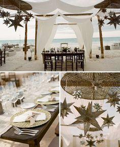 Rustic beach wedding style - interesting take