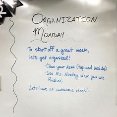Time to get organized! Not just for the kids ... My goal as a teacher this week…