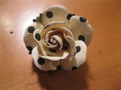 Beer and crafts--what could be better? Polka Dots Ivory Flower Bottlecap Pin Brooch by VioletVox on Etsy, $4.00