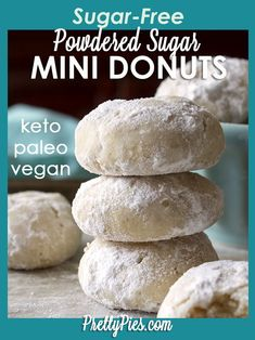 Amazingly sugar-free/low-carb and dairy-free! Easy recipe-- No donut pan needed. Amazingly sugar-free/low-carb and dairy-free! Easy recipe-- No donut pan needed. Low Carb Donut, Low Carb Sweets, Low Carb Desserts, Low Carb Keto, Healthy Desserts, Low Carb Recipes, Healthy Sugar, Paleo Sweets, Keto Snacks