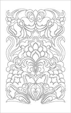 Jacobean Embroidery In Progress