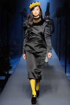 Necklace's intense color and material (not sure what that is or if it's even a necklace - if not, it should be!)  ||  Jean Paul Gaultier Fall 2015 Couture - Collection - Gallery - Style.com