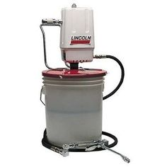 Lincoln Lubrication 989 Heavy Duty Grease Pump for 25-50 lbs. Drum – Use a lot of grease? Going through grease cartridges like crazy? Try using grease in a 25 pound or 50 pound bucket?  The Lincoln Lubrication 989 Heavy Duty Grease Pump for 25-50 lbs. Drum's steel cover has three thumb screws to clamp securely to any original 25-50 lb. refinery container.