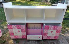 Modulo Organizador, Biblioteca Con Cubos Con Ruedas