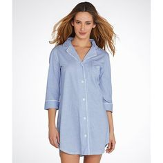 bd72825bd4 Lauren Ralph Lauren Classic Knit Sleep Shirt ( 59) ❤ liked on Polyvore  featuring intimates
