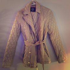 Brand new Vince Camuto pea coat/jacket Brand new. Was a gift that I never ended up wearing. Size small. Perfect condition!!! Light tan color in person. Vince Camuto Jackets & Coats