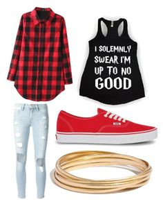"""""""I solemnly swear I'm up to no good"""" by leoigrandleo ❤ liked on Polyvore featuring Frame Denim, Vans and Madewell"""