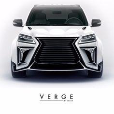 Lexus body kit VERGE soon will begin selling on Behance Suv Trucks, Suv Cars, Sport Cars, Toyota 4x4, Toyota Cars, Lexus Sport, Lexus Lx570, Dropped Trucks, Top Luxury Cars