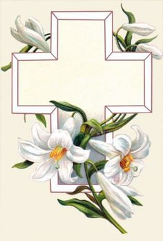White Easter Lily Cross
