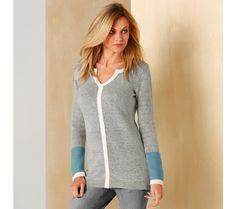 Pulóver s grafickým vzorom a tuniským výstrihom | blancheporte.sk #blancheporte #blancheporteSK #blancheporte_sk #zimnákolekcia #zima Pullover, Sweaters, Fashion, Moda, Fashion Styles, Sweater, Fashion Illustrations, Sweatshirts, Pullover Sweaters
