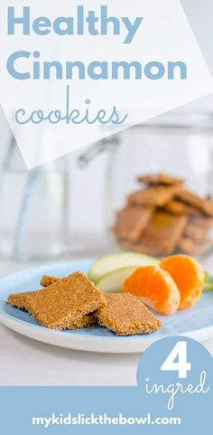 Healthy cinnamon cookies a low sugar recipe, wheat free, kids friendly, crispy and spiced similar to Speculaas perfect for afternoon tea Healthy Cookies For Kids, Healthy Snacks For Kids, Healthy Baking, Healthy Desserts, Healthy Girls, Healthy Sugar, Toddler Snacks, Healthy Foods, Healthy Recipes