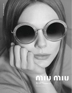 Elizabeth Olsen by Inez and Vinoodh for Miu Miu Eyewear Spring 2014 Ad Campaign
