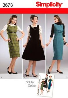 Love the outfit in the middle!  Simplicity 3673