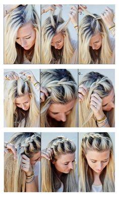 Trenza de lado con cabello suelto