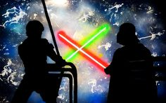 'Star Wars' Canvas Print by PlochArt Star Wars Luke, Star Wars Clone Wars, Star Wars Art, Star Wars Quotes Yoda, Yoda Quotes, Star Wars Painting, Star Wars Light Saber, Canvas Quotes, Princess Leia