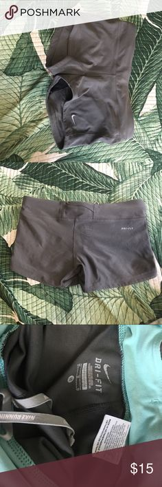 Nike grey spandex Size medium, form fitting and tight! Good used condition Nike Shorts