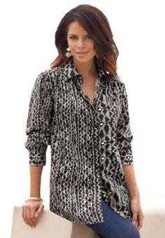 97c3497b45d0d Roamans Women s Plus Size Kate Bigshirt Plus Size Women