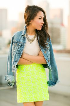 Rooftop Sunset :: Floral neon