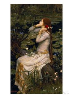 Ophelia, 1894 Giclee Print by John William Waterhouse at AllPosters.com
