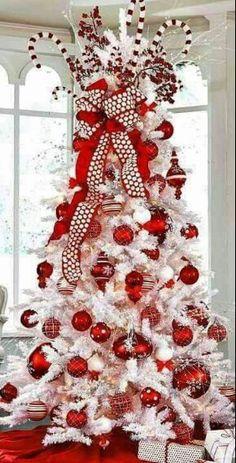 Exceptional Christmas Tree Decorations Red U0026 White Candy Cane Topper ToniK Ðℯck Ʈհe  HÅĿĿs