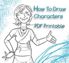 How To Draw Characters Printable PDF Cute Cartoons by Fanie