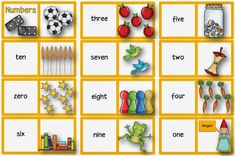 """Englisch in der Grundschule:: Freiarbeitsmaterial zum Thema """"numbers"""" English Games, English Class, English Lessons, Teaching English, Speaking Games, Kids Seating, Preschool Worksheets, Primary School, Board Games"""