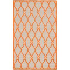 eCarpetGallery Handmade Kasbah /Orange Wool Rug
