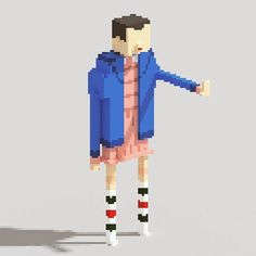 Eleven Strangerthings Pixelart Pixel Art 3D