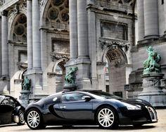 автомобили, bugatti, veyron, роскошь, черный, припаркованные, строительство