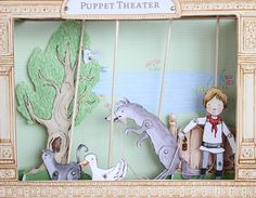 Peter and the Wolf printable theatre kit ~ love the artwork