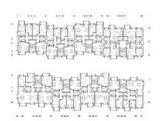 second floor plan - Jurčkova Housing / Enota