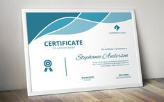 Ad: Modern docx certificate by Inkpower on Looking for a modern yet easy to edit certificate template for MS Word? This is an easy to edit docx multi purpose certificate design that Training Certificate, Certificate Of Achievement, Certificate Design Template, Invoice Template, Resume Templates, Flyer Template, Business Brochure, Business Card Logo, Wedding Brochure
