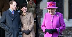 Sem George, William e Kate Middleton vão à missa de Natal com a rainha Elizabeth II