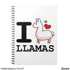I Llama Lamas Spiral Notebook