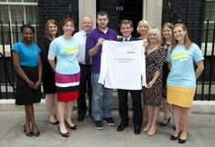 As part of the Community Games Relay, the team headed up to Number 10 to meet Sports Minister Hugh Robertson as he awarded the day 69 shining light with their commemorative jersey.