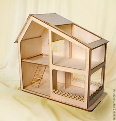 make your workspace more attractive by making dollhouse miniatures and dollhouse crafts by arranging the dollhouse room will be more interesting than Cardboard Crafts, Wooden Crafts, Diy And Crafts, Arts And Crafts, Wooden Dollhouse, Diy Dollhouse, Dollhouse Miniatures, Doll Furniture, Dollhouse Furniture
