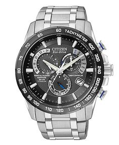 Citizen Watch, Men's Chronograph Eco-Drive Titanium Bracelet 43mm AT4010-50E #MacysFavoriteThings
