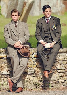Tom Branson and Thomas Barrow...it seems so weird to think of the actors who play these characters as friends.