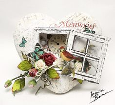 Ingvild Bolme: Altered heart with BRAND NEW Prima goodies! polystyrene heart