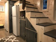 Dandelion Tiny House Built by Incredible Tiny Homes Tiny Cabins, Tiny House Cabin, Cabins And Cottages, Tiny House Living, Tiny House Plans, Tiny House On Wheels, Bus House, Small Cottages, House Floor