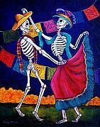 Dia De Los Muertos Posters - Bailando Poster by Candy Mayer