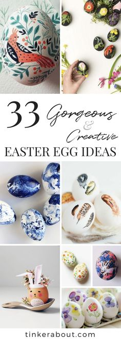 33 Gorgeous & Creative DIY Easter Egg Decorating Ideas