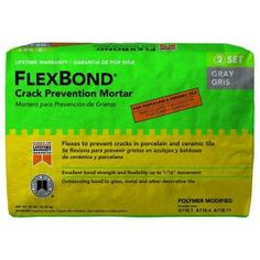 Custom Building Products FlexBond 25 lb. Gray Crack Prevention Mortar-FBG25 - The Home Depot