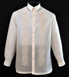 Jusi Barong Tagalog - Barongs R us Barong Wedding, Wedding Attire, Barong Tagalog, Filipino Wedding, Filipiniana Dress, Philippines Fashion, First Communion Dresses, Nice Dresses, Formal Dresses